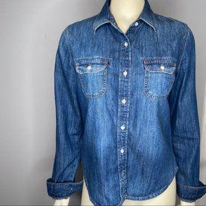 Mavi Jeans denim button up shirt sz M